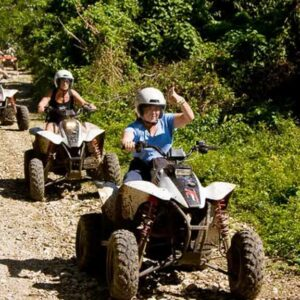Jump in your very own four-wheel ATV and get ready for the ride of your life through the gloriously luxuriant landscape surrounding Jamaica. Explore hidden villages, nestled amidst wondrous environments