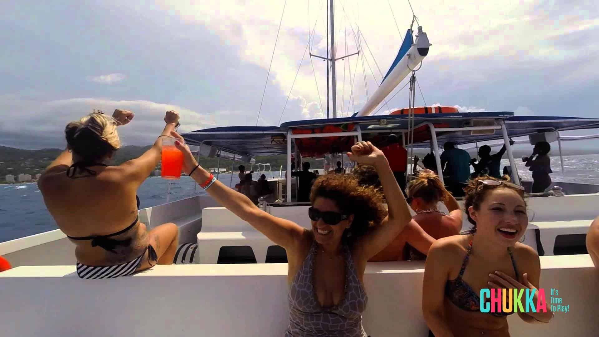 Catamaran Cruise Rum Punch Party Jamaica Get Away Travels