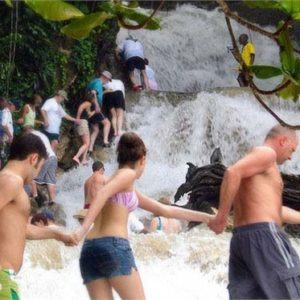 Montego Bay Tours To Dunn's River Fall can be reserved from Montego Bay Hotels or Cruise Ship Port with Jamaica Get Away Travels 24 hours a day.