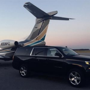 Black Chevrolet Suburban Executive Transfers is perfect for VIP clients, celebrities, or executives who wishes to travel in luxurious comfort and control there schedule as they so choose.