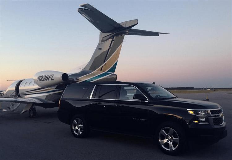 Black Chevrolet Suburban Executive Transfers Iam Jet Centre
