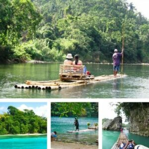 Rio Grande River Rafting Tour - Port Antonio Jamaica offers the best bamboo rafting experience by expert raftmen allowing one to connect deeply to nature .