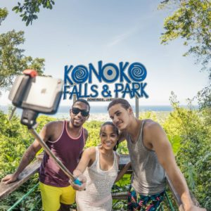 Travel with your Private Driver to enjoy the cool cascading waters of the Konoko Falls and Irie Blue Hole Secret Falls. Swim in the pools along the easy climb to the exit at the top of the waterfall.